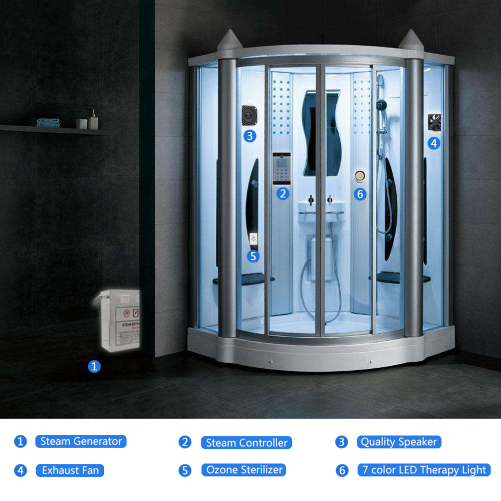 1Set 220 240V 4.5KW Portable Sauna Bathroom Spa Steam Temperature ...
