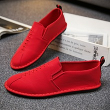 2019 New Fashion Men Casual Shoes Luxury Brand Flats Loafers for Driving Leather Sneakers