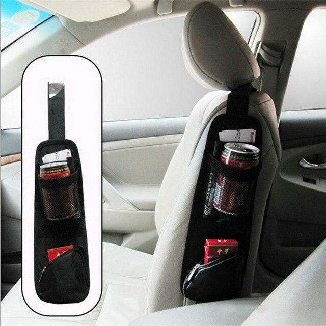 Portable Car Seat Accessories Hanging Organizer Pocket Bags Pram Buggy Baby Cart Stroller Bottle Storage Holder