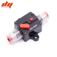 80A - 200A Car Fuse Box Audio Amplifier Circuit Breaker Manual Reset Fuse Holder for System Protection Boat Fuse Block Blade 4GA