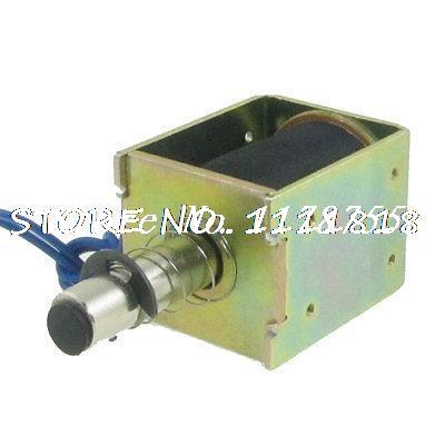 цена на DC 24V 0.48A Push Type Linear Motion Open Frame Solenoid 18mm Stroke