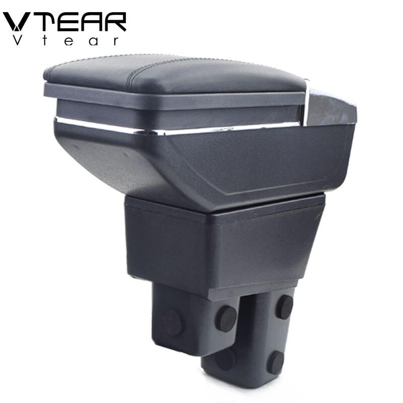 Vtear Per Honda Fit box bracciolo centrale casella dei contenuti Negozio di prodotti interni vano Portaoggetti del Bracciolo auto-accessori per lo styling parti 08 -18