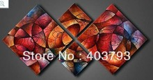 MODERN ABSTRACT HUGE WALL ART OIL PAINTING ON CANVAS beautiful abstract -2 free shipping