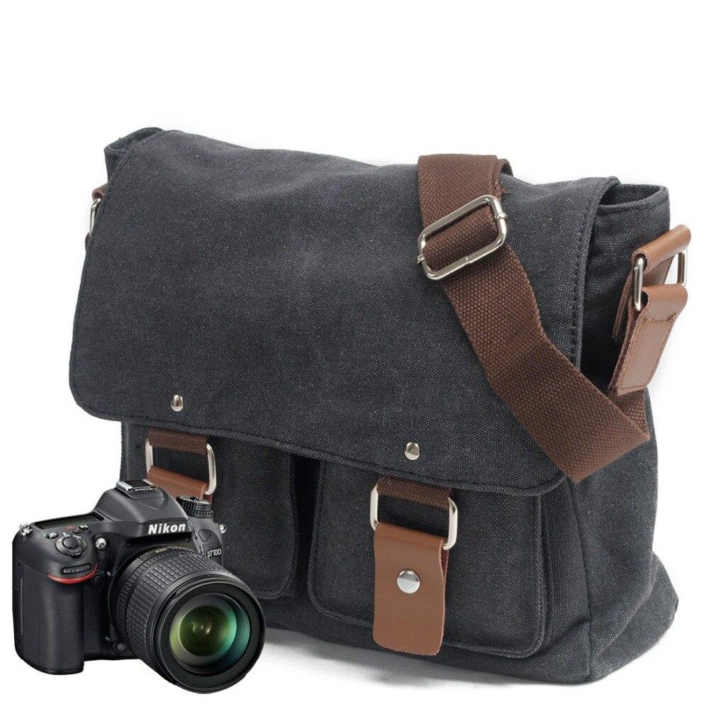 Briefcase Camera Case Bag Fashion Canvas Shoulder