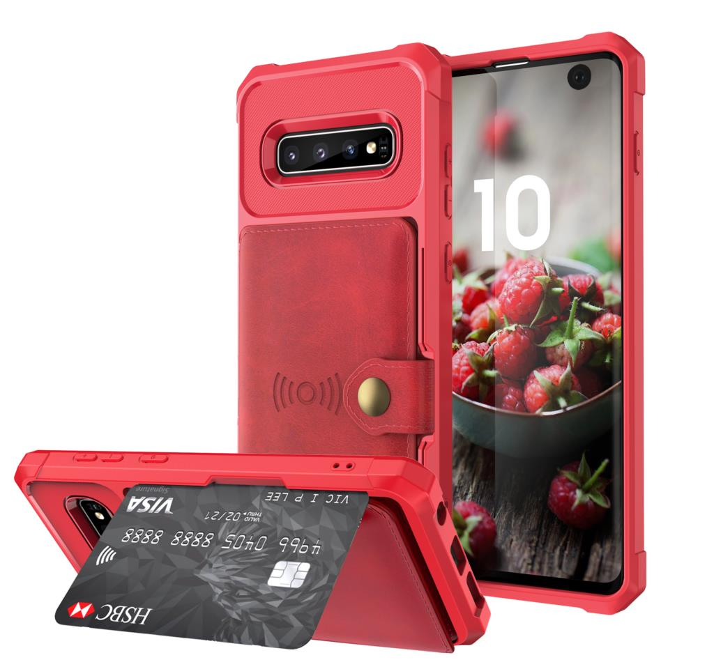 for Samsung Galaxy S9 S10 Plus S10e Note 9 Credit Card Case PU Leather Flip Wallet Cover with Photo Holder Hard Back Cover For Galaxy S10 Plus