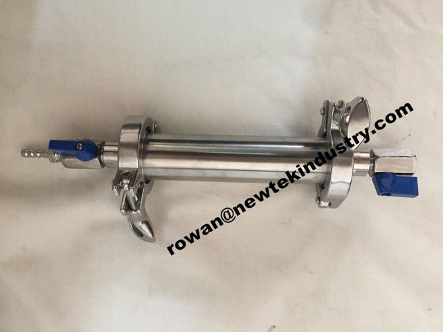 135g Closed Column Pressure Extractor Without Feet Bho Herbal Extractors With Pressure Guage Stainless Steel 304