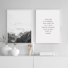900d Nordic Style Mountain Canvas Art Print Painting Poster, Wall Pictures for Home Decoration, Wall Decor BW002(China)
