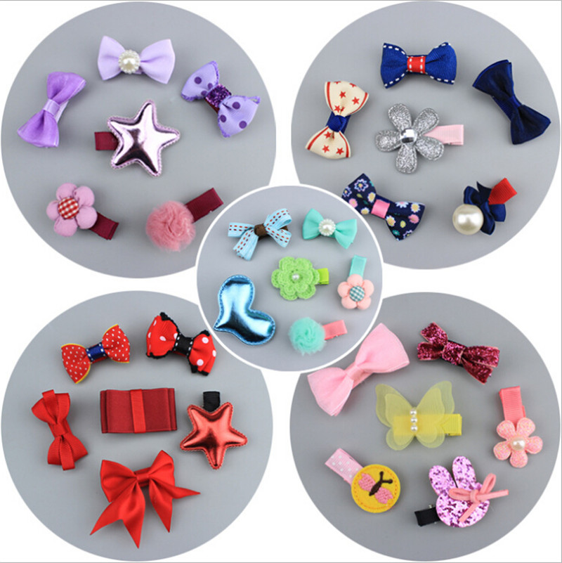 1 set gift cute bowknot hairpins baby girls kids hair clips bows barrette accessories for children hairclip headdress headwear