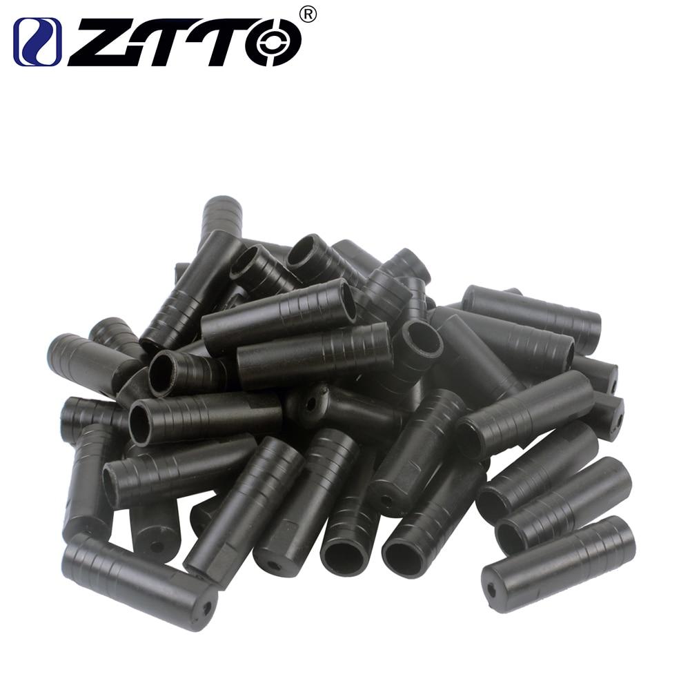 Bike Ferrules 4mm BLACK Plastic Cycle Gear Cable End Caps