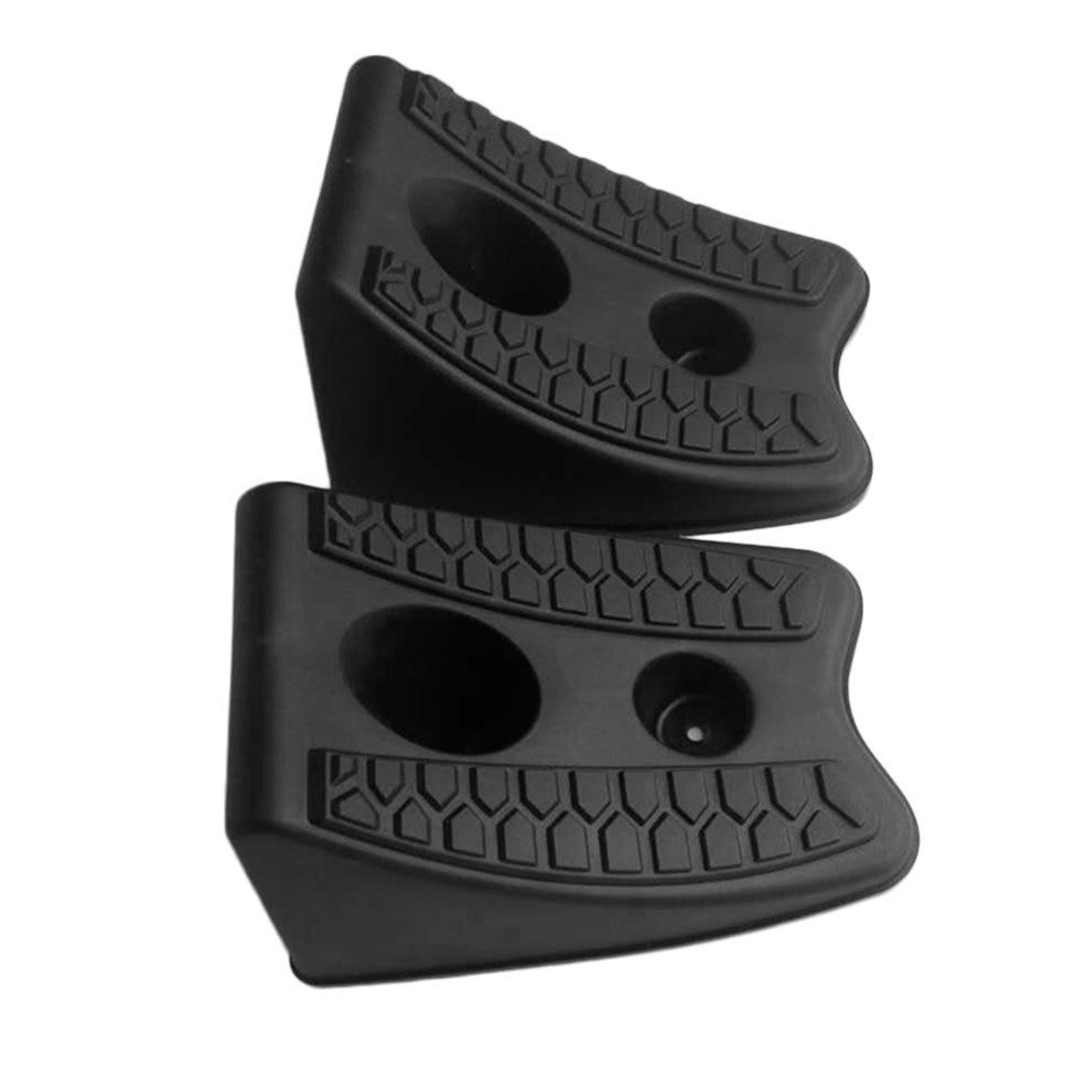 New 2pcs/set New Automobiles Anti-slip Block Rubber Car Tyre Slip Stopper Control Wheel Alignment Block Tire Support Pad Hot Top