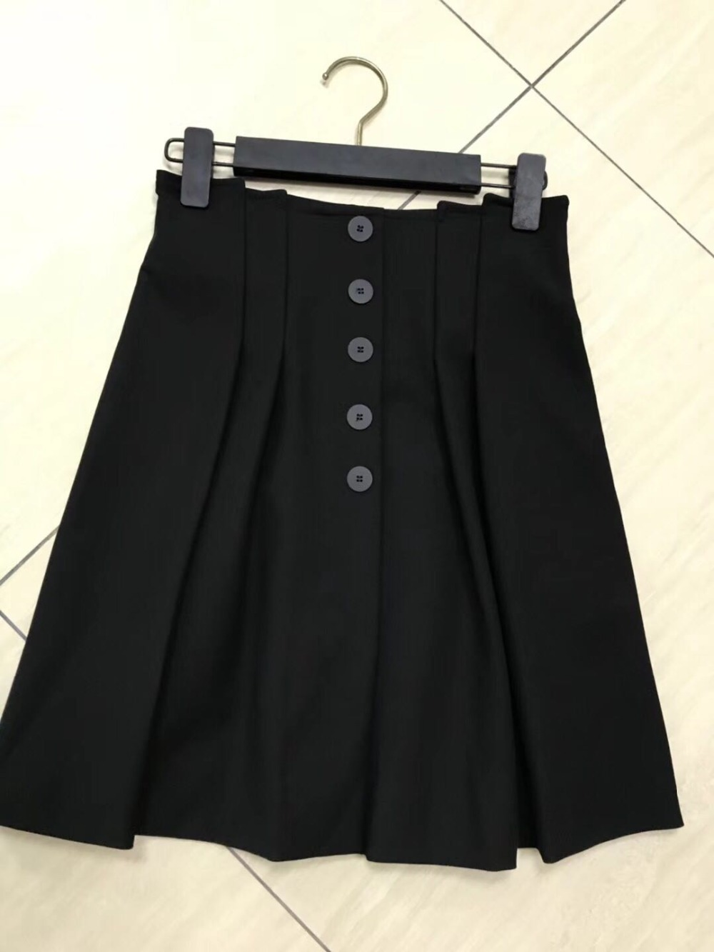 breasted Negro Single Nuevo 2018 Verano Para Moda Las Faldas Mujeres Plisadas Mini wqRRz