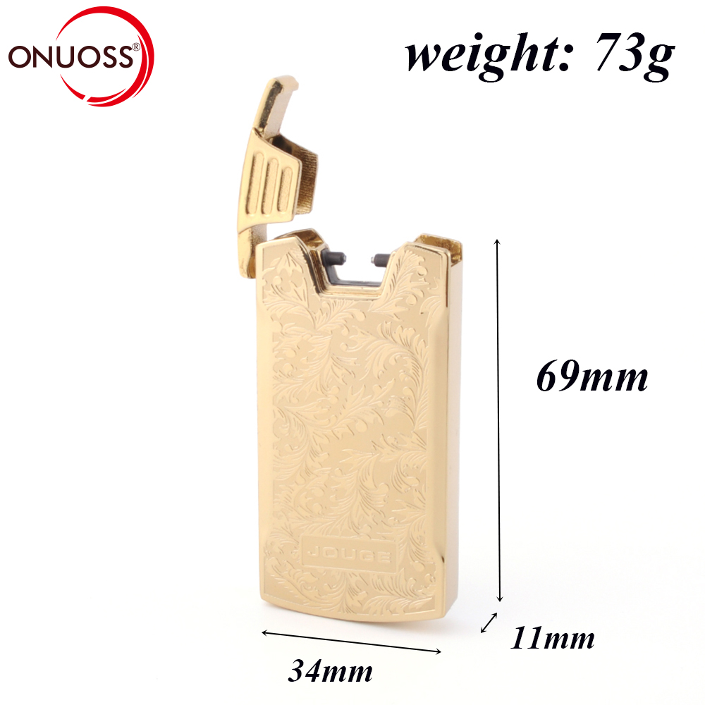ONUOSS Electric Cigarette Torch Shake For Light USB Rechargeable Single Pulsed Arc Lighter Windproof Plasma Ceramic Head Lighter