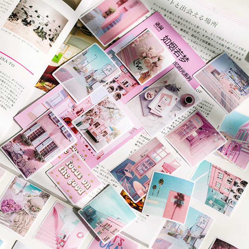 60 Pcs/lot Yuxian Memories Of Time Paper Sticker Decoration Stickers DIY Diary Scrapbooking Label Sticker