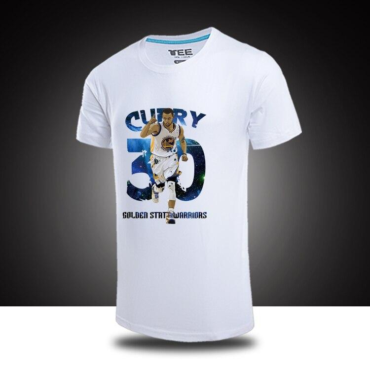 ab8e0c2c Stephen Curry Classical Shoot Painting Logo T shirts Cotton t shirt ...