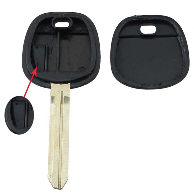 MAYITR Uncut 4D67 Chip Transponder Ignition Chip Key for Scion Toyota Matrix Sienna Solara Tacoma Sequoia Tundra Venza Yaris