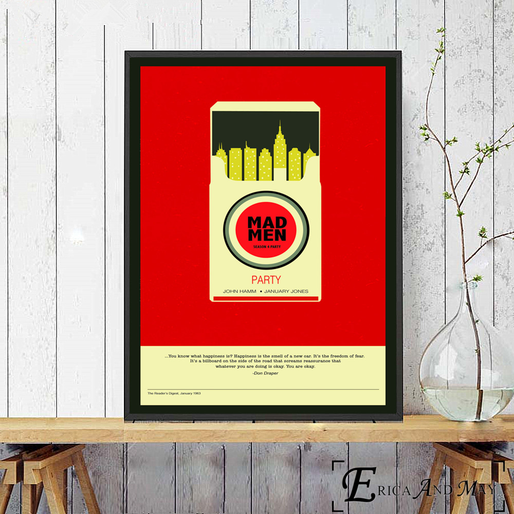 Mad Men Party Quote Canvas Art Print Poster Wall Pictures