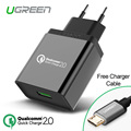 Ugreen for Qualcomm Quick Charge 2.0 Wall Charger 18W EU Plug USB Fast Charger for Xiaomi Sony Xperia HTC for Samsung S6 Edge