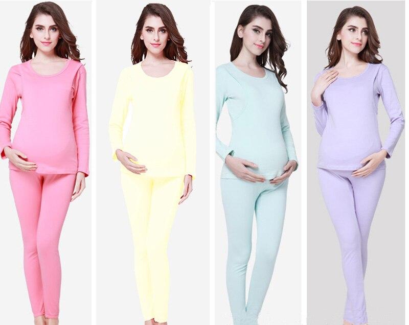 2in1 Применение: Средства ухода за кожей для будущих мам Костюмы и хлопок кормящих пижамы комплект для беременных Для женщин Грудное Кормлени...