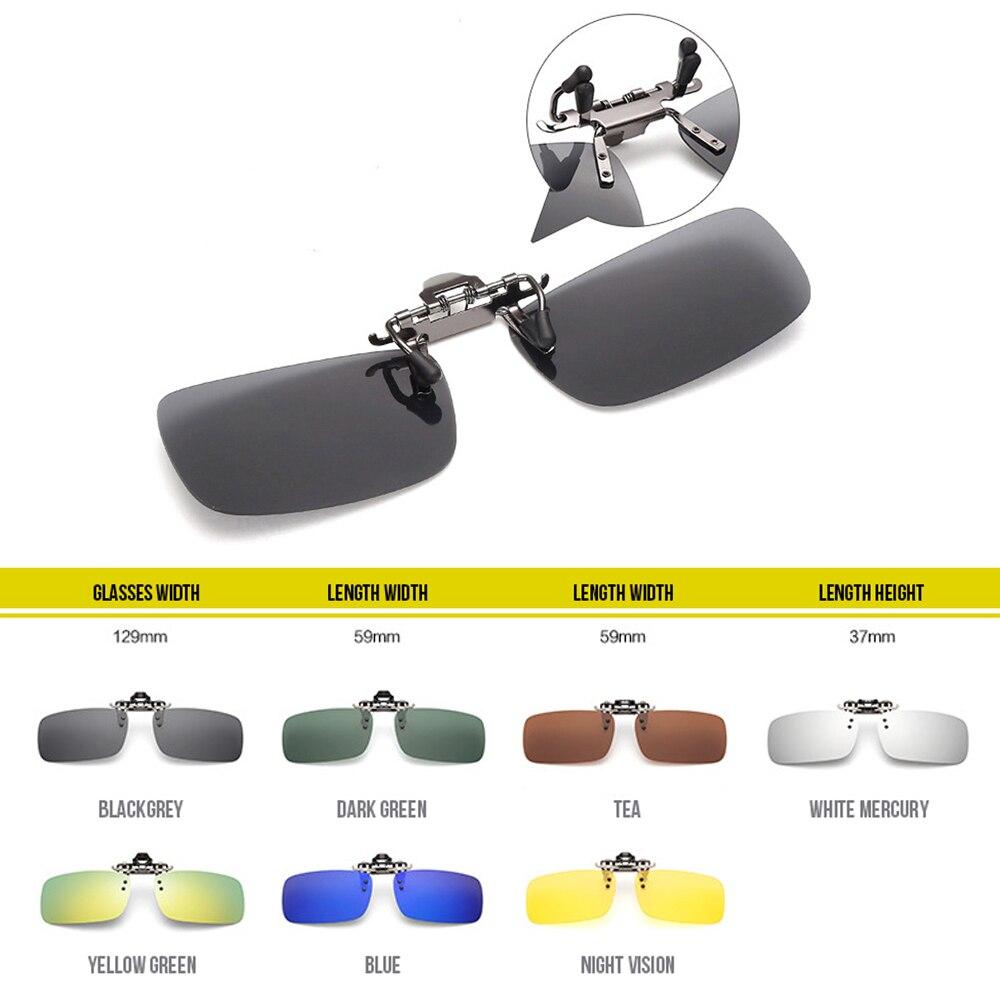 Clipe quadrado de óculos polarizados noite condução