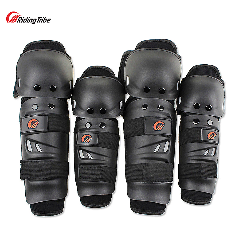 Tactical Stainless Steel Racing Knight Knee Protection Cover Sports Elbow Pads Motorcycle Protective Elbow Equipment