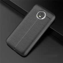 Hot SALE Relief Case Leather Litchi pattern TPU Soft Cases For Motorola Moto G5s Plus G5 E4 Z2 Play G4 C X4 Back cover