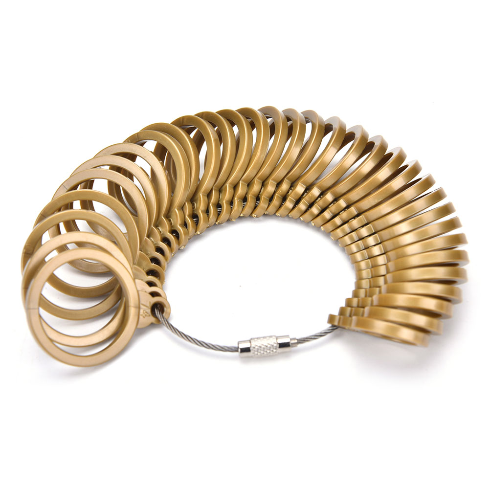 New 1 Set 32 Pcs Finger Ring Sizer Gauge Plastic Jeweler Sizing Tool Gold European Standard Jewelry Tool