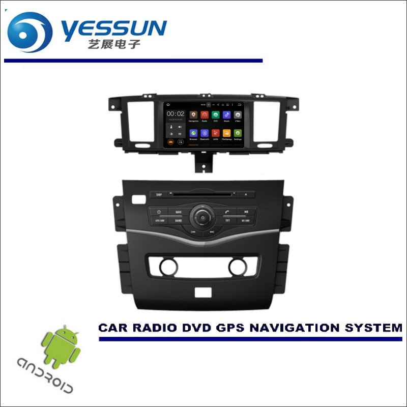 YESSUN pour Nissan patrouille 2015 ~ 2016 CD DVD GPS lecteur Navi Radio stéréo écran voiture multimédia Navigation Wince/système Android
