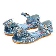 Buy 2019 New Summer Children's Fashion Princess Shoes Rhinestone Bow Knot Girls Frozen Sandals 4#23D50 directly from merchant!