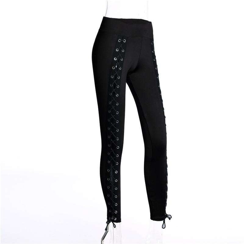 HTB1eBDQRVXXXXX XVXXq6xXFXXXL - Stripe sexy side cross line Black Hole pants JKP158