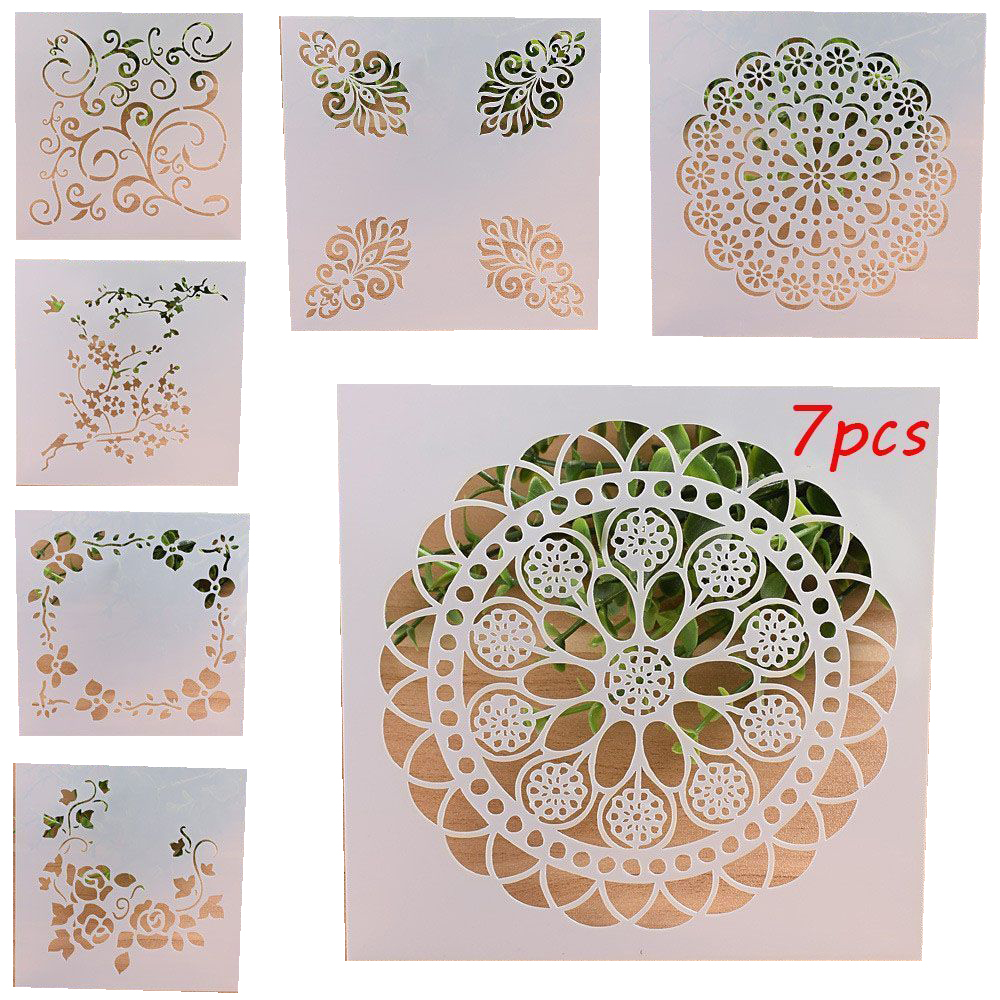 Layering Stencils For Wall Painting Scrapbooking Template Decorations DIY