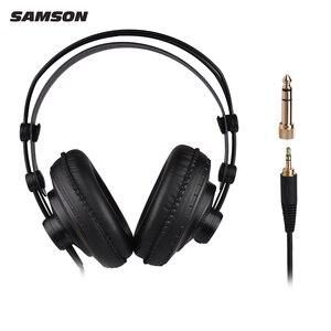 Image 4 - Профессиональные наушники SAMSON SR850 для студийного монитора, динамическая гарнитура с полуоткрытым дизайном
