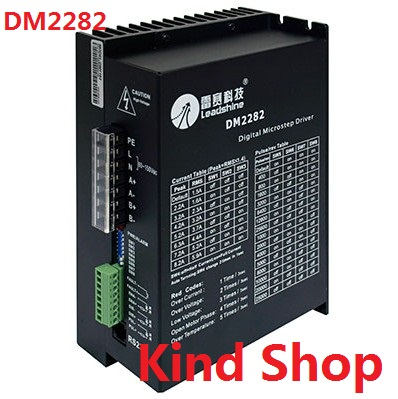 Leadshine DM2282 digital stepper driver for 2 phase NEMA 34 and NEAM 42 step motor 2.2~8.2A,work 80~220VAC new leadshine dm2282 cnc high voltage digital stepper drive 2 phase working 80 220vac 0 52 8 2a push output nema34 and nema