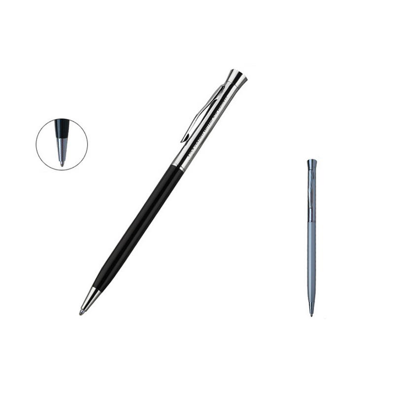Fantastic long pen fashion pocket writing pen silver top with black body best gift for students and teachers 5pcs free shipping in Ballpoint Pens from Office School Supplies