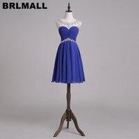 Cheap Royal Blue Homecoming Dresses 2017 short Mini Beaded Prom Dresses Graduation Dresses vestido de festa curto