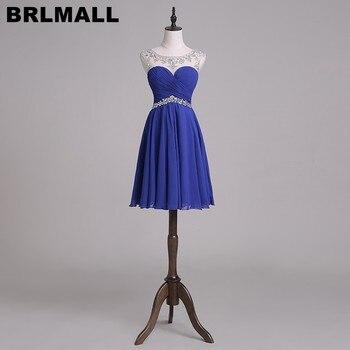 d4101e096141b Ucuz Kraliyet Mavi Mezuniyet Elbiseleri 2017 kısa Mini Boncuklu balo  kıyafetleri Mezuniyet Elbiseleri vestido de festa curto