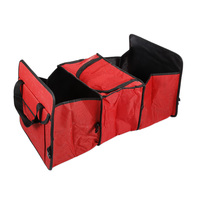 1pcs High Quality Redstorage Box Car Trunk Storage Bag Oxford Cloth Folding Organizer Box Red