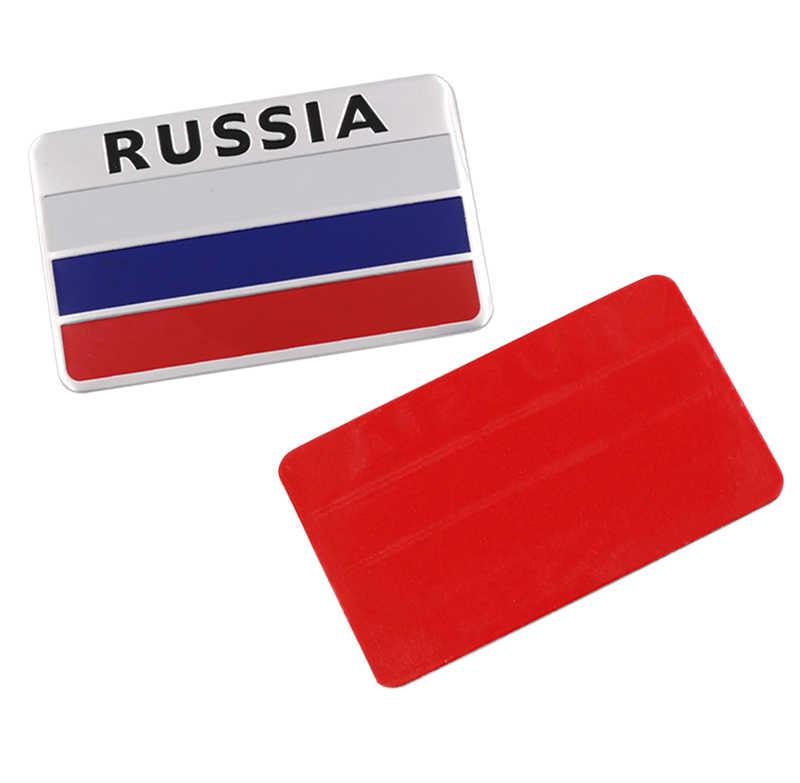 3D алюминиевый Российский национальный флаг эмблема автомобиля Наклейка для BMW Ford Focus Chevrolet Cruze KIA Rio Skoda Octavia Toyota автостайлинг