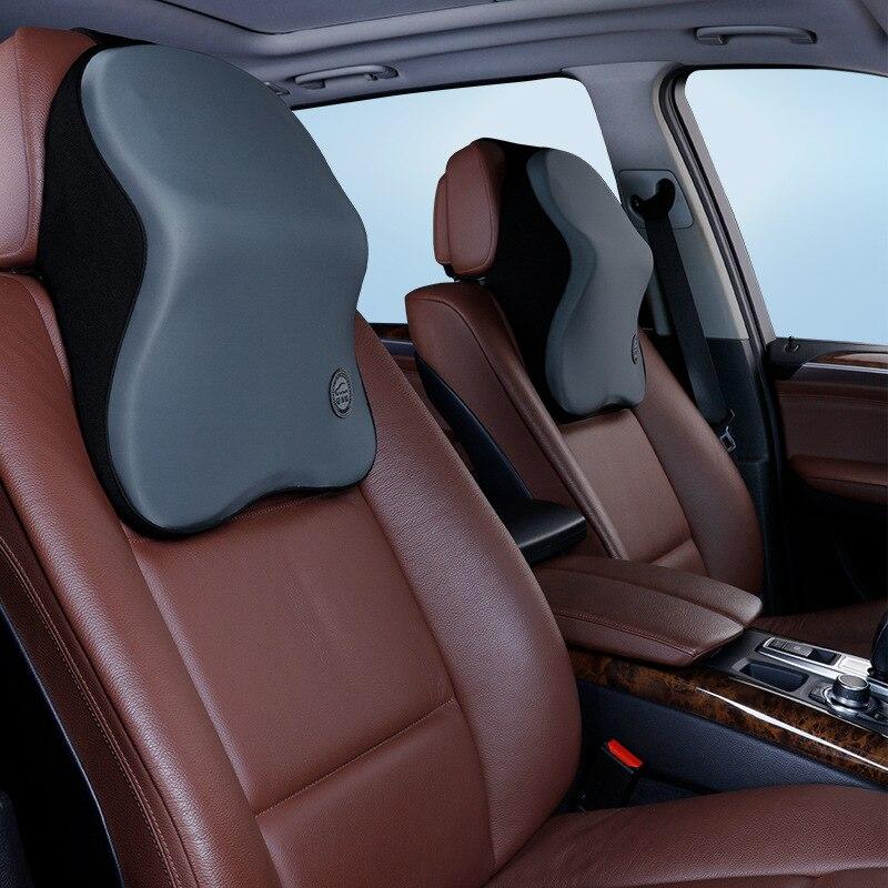 Car Seat Head Supports Memory Cotton Head Pillow Car Seat Head Neck Rest Massage Memory Foam