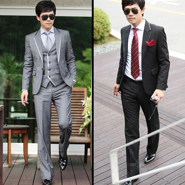 2017 new arrival terno masculino, luxury men's casual fashion suits, two-  pieces blazer