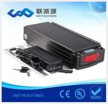 Super power black rear rack 48v 15Amps electric bicycel battery+charger
