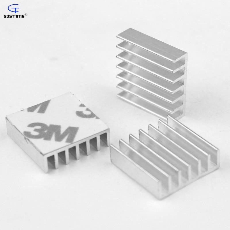 40mm 40x40x10mm RAM Adhesive Tape Aluminum Heatsinks IC Chipser Cooling 4cm