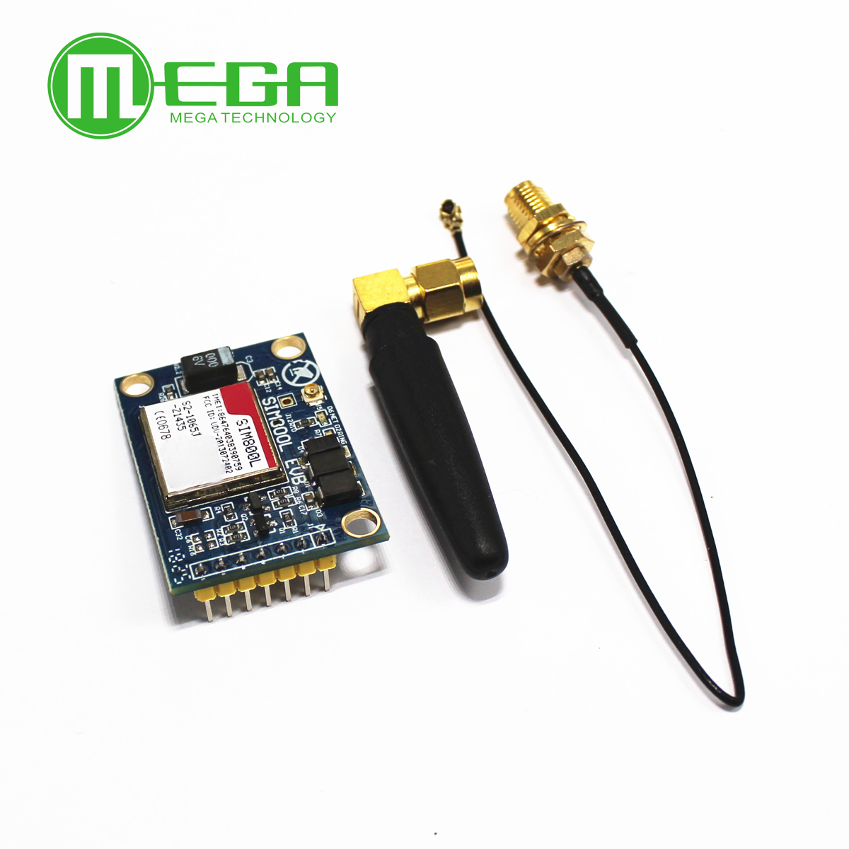 New SIM800L V2.0 <font><b>5V</b></font> Wireless GSM GPRS MODULE Quad-Band W/ Antenna Cable Cap image