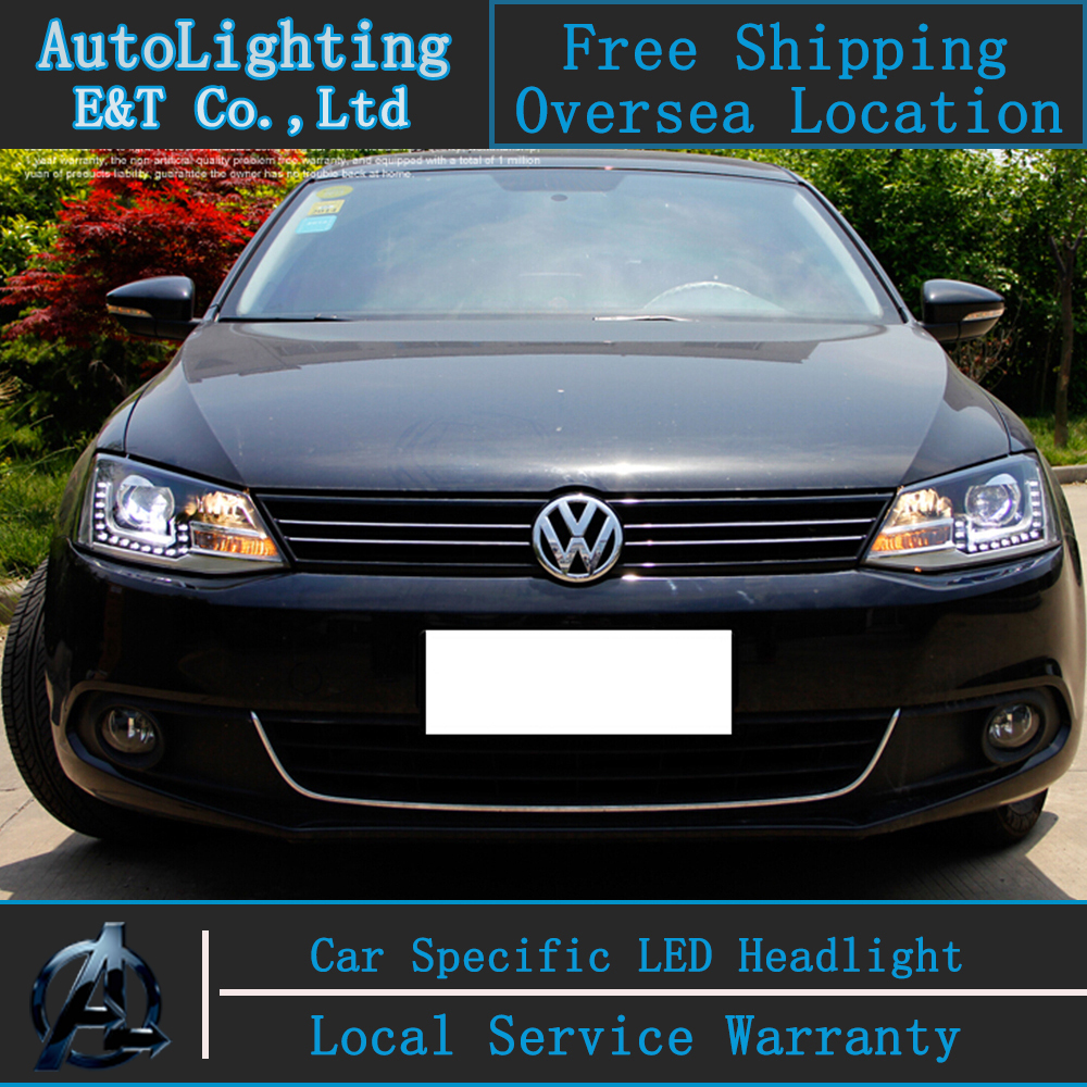 Car styling Head Lamp for VW Jetta MK6 led headlight assembly 2011-2014 Jetta headlight led drl H7 with hid kit 2 pcs. car styling head lamp for bmw e84 x1 led headlight assembly 2009 2014 e84 led drl h7 with hid kit 2 pcs