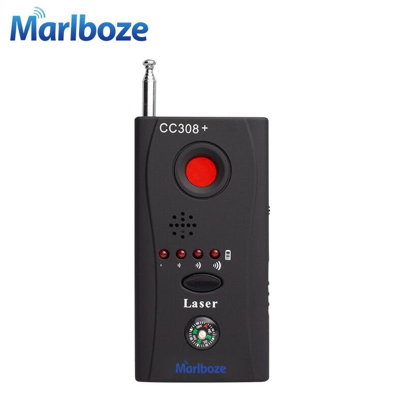Marlboze CC308 Беспроводной ФНР Полная частота детектора GSM устройства Finder Cam лазерный объектив радиочастотного сигнала детектор ...