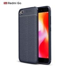 For Cover Xiaomi Redmi Go Case Luxury Leather Silicone Fundas 5.0