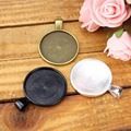Caxybb 10 шт. 25 мм серебряное ожерелье камея установка кабошон лоток рамка база бланк ювелирные изделия делая выводы ювелирные изделия Ручной Работы