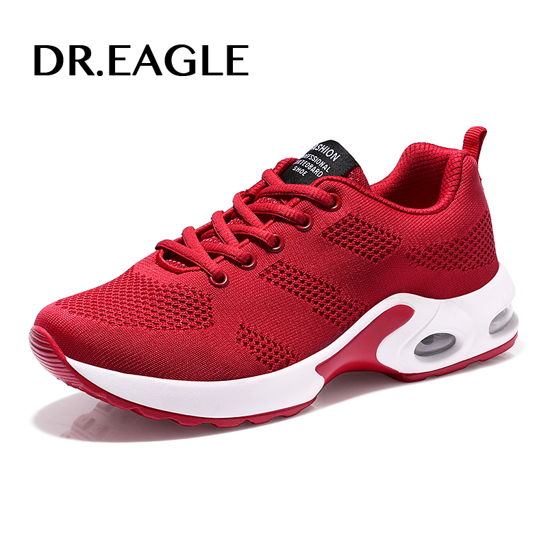 DR.EAGLE female athletic basket femme air cushion Footwear running shoes women SPORT SHOES WOMAN womens sneakers red 2017 akexiya 2018 sport shoes woman sneakers red ladies running shoes air cushion outdoor athletic female shoes sports basket femme