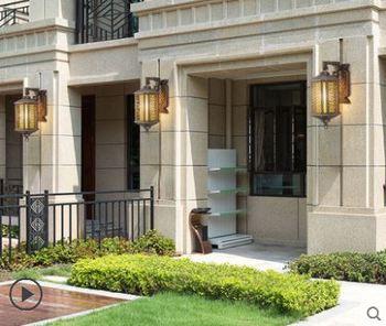 Led wall lamp outdoor waterproof corridor villa wall door hanging lamp outdoor new Chinese terrace simple balcony lamp