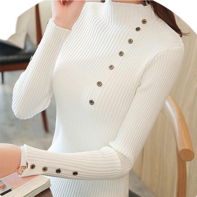Women Sweater Turtleneck Sweaters Women Korean Fashion Woman Knitted Sweater Women Sweaters and Pullovers Winter Clothes Women 24