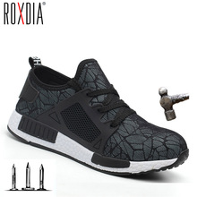 ROXDIA brand plus size 35-48 steel toecap men women work & safety boots summer lightweight impact resistant male shoes RXM113